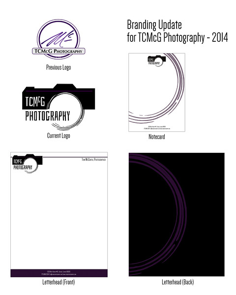 TCMcG Photography Brand Redesign