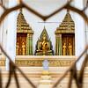 AYUTTHAYA. ENTRANCE OF A BHUDDIST TEMPLE.