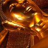 DECLINING BUDDHA. WAT PHO. BANGKOK.