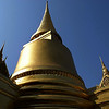GOLDEN CHEDI. ROYAL PALACE. BANGKOK.