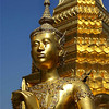 GOLDEN GUARD. ROYAL PALACE. BANGKOK. THAILAND.