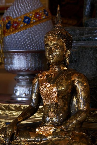 BUDDHA STATUE IN THE GOLDEN MOUNTAIN TEMPLE. BANGKOK. THAILAND.