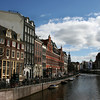 VIEW AT THE SINGEL FROM KONINGSPLEIN. AMSTERDAM.