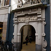 AMSTERDAM. OLD ENTRANCE OF THE MALE PRISON. NOW ENTRANCE OF SHOPPING CENTRE DE KALVERTOREN.