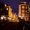 LANGE SPIEGELSTRAAT AT NIGHT. AMSTERDAM CENTRE. THE NETHERLANDS.