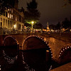 AMSTERDAM. CANALS AT NIGHT.