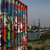 CONTAINER WITH GRAFFITI. MAASSLUIS. ZUID-HOLLAND.