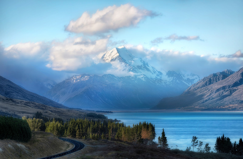 On the Road to Mt. Cook