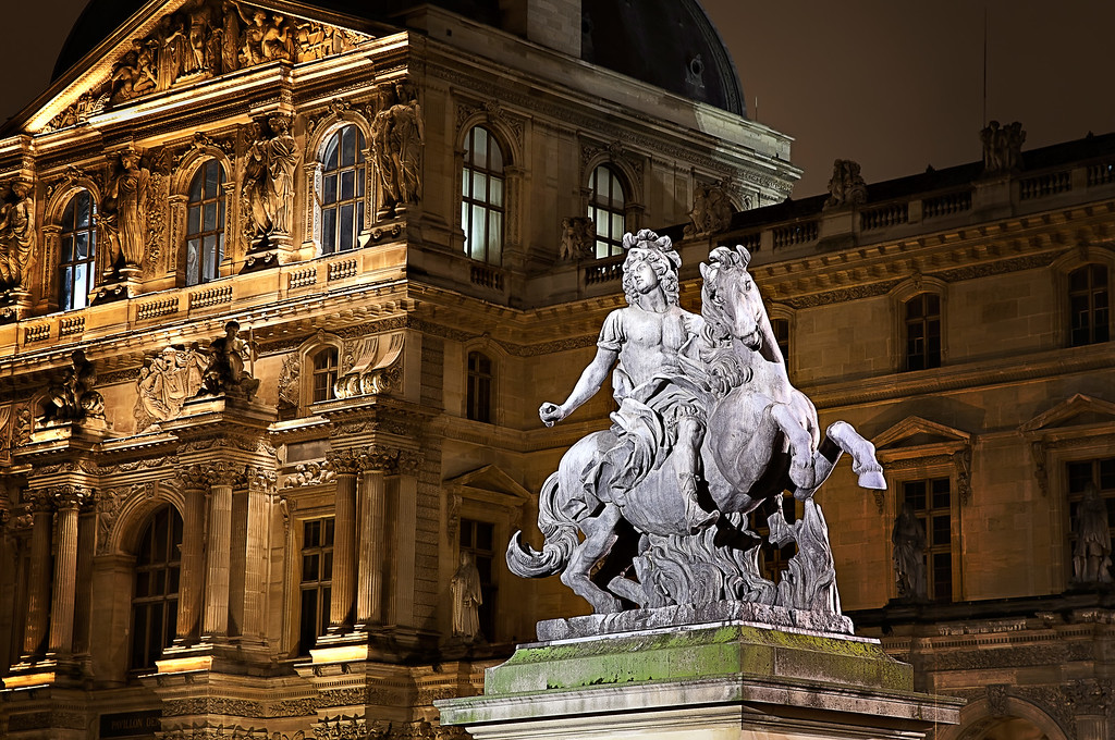 Louis XIV at the Louvre