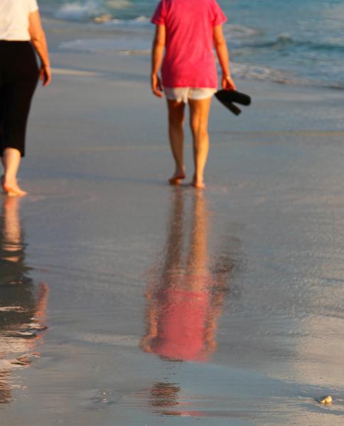Reflections in the surf Casa del Mar, Aruba-2014