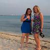<center>IMG#1104j  Amber & Amanda toast the evening-Aruba 2011<center>