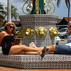 IMG#1037<br /> <br /> Relaxing at the Downtown Fountain in Aruba<br /> Sisters...Rachel & Amanda