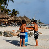 Future surfers at Eagle Beach, Aruba-2014