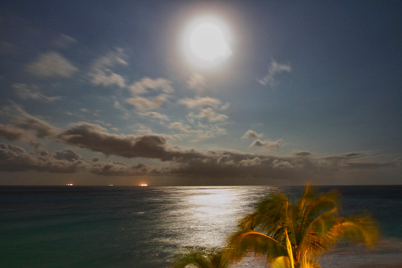 Full moon at 4:30 am May 14, 2014-Casa del Mar, Aruba.