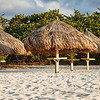 Chickie Huts in the breeze on Eagle Beach, Aruba-2104