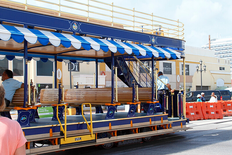 New Trolley for the downtown area in Aruba-2014.