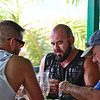 Biker group having lunch at Iguana Joe's downtown Aruba-2014