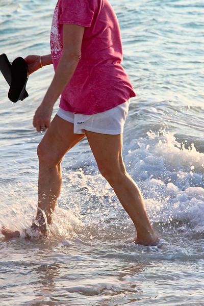 Wading in the surf...Casa del Mar Beach, Aruba-2014