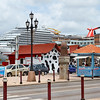 "Carnival Cruise Ship ""Carnival Breeze"" docked in the downtown port of call, Aruba-2014"