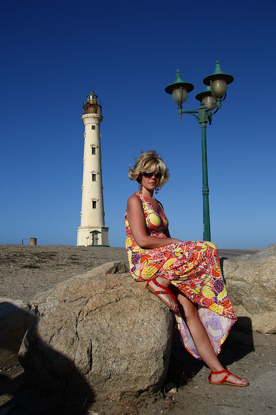"<center>IMG#0983  ""Amanda"" Californian Lighthouse on the island of Aruba-2010<center>"