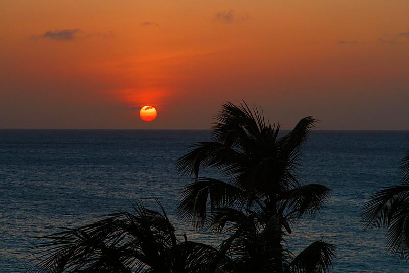 Tropical sunset at Casa del Mar, Aruba-2014