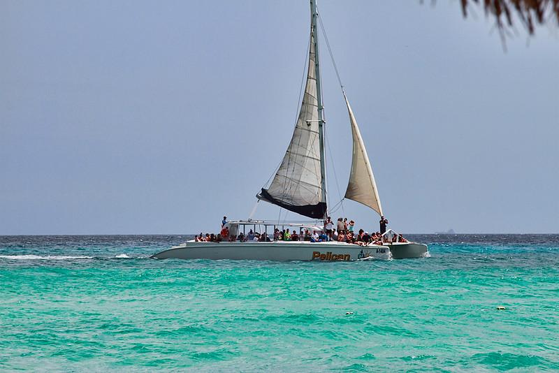 Catamaran off the Casa del Mar Beach, Aruba-2014