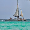 Catamaran off the Casa del Mar Beach, Aruba-2014