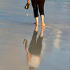 Graceful footsteps along the Casa del Mar Beach surf, Aruba-2014
