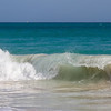 Rough surf chops up the beach at Casa del Mar, Aruba-2014