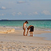 Looking for shells on Eagle Beach, Aruba-2014