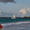 Enjoying the late afternoon sun at Eagle Beach, Aruba-2014