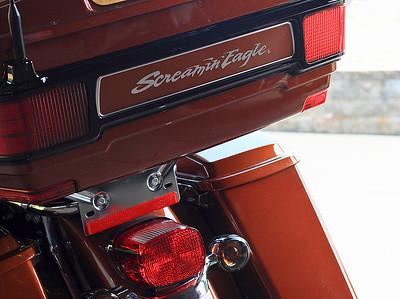 "IMG#4446 July 23, 2011 - DAY 1 The ""Screaming Eagle"" Harley Davidson rear..."