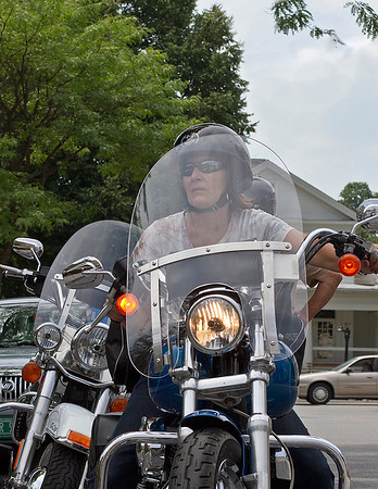 """IMG#4477 July 23, 2011 - DAY 1 Grace parks her """"Ride"""" during one of our rest stops...Benningtont, Vermont"""