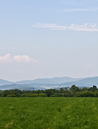 IMG#4459 July 23, 2011 - DAY 1 Hazy, lazy skies cloud the mountains in the distance.. somewhere in Vermont