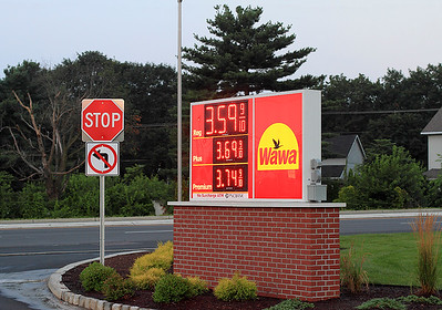 IMG#4407 July 23, 2011 - DAY 1 We met at the Wawa early morning.. .notice the price of gas that day!