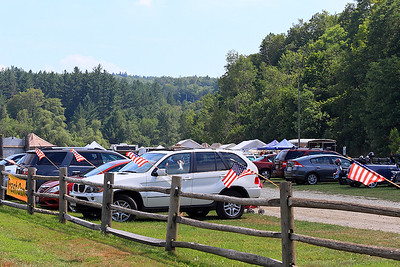 IMG#4488 July 23, 2011 - DAY 1 A Town Event Parking lot along the trail... Vermont