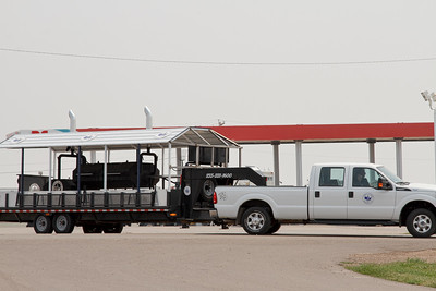 Double Cooker needs its' own trailer-Belfield, ND-8/1/17