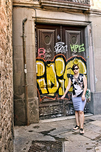 "BARCELONA, SPAIN-""CUITAT VELLA"" OLD CITY TOUR 7/21/14...CANDID GRAFFITI"