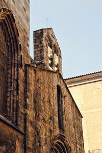 BARCELONA, SPAIN - CITY TOUR  7/21 /14  Portion of the Cathedral of the Holy Cross and St Eulalia