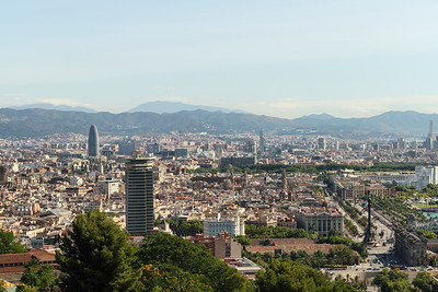 BARCELONA, SPAIN - CITY TOUR  7/21/14  City of Barcelona as seen from Parc Guell