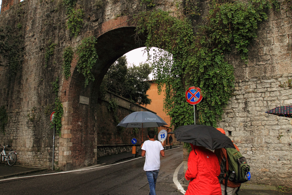 LUCA LEADS US IN...FLORENCE, LASPEZIA...LEANING TOWER OF PISA, FIELD OF MIRACLES...RAINY AND MISTY FOR MOST OF THE DAY 7/24/14