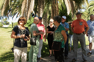 BARCELONA, SPAIN - CITY TOUR  7/21/14  Joseph tells us the History of the Parc Guell as we begin our tour)