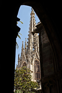 "BARCELONA, SPAIN -""CUITAT VELLA"" OLD CITY TOUR 7/21/14...View of Cathedral de Santa Eulalia"