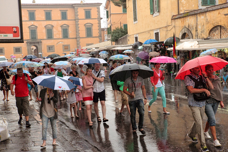 FLORENCE, LASPEZIA...LEANING TOWER OF PISA, FIELD OF MIRACLES...RAINY AND MISTY FOR MOST OF THE DAY 7/24/14