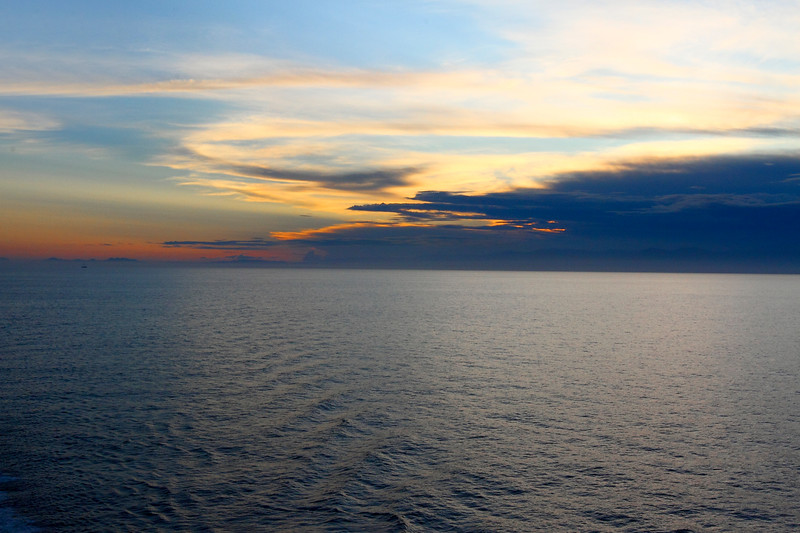 SUNSET ON OUR FIRST FULL DAY OF THE CRUISE...7/23/14
