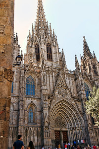 BARCELONA, SPAIN - CITY TOUR  7/21/14  Cathedral of the Holy Cross and St. Eulalia