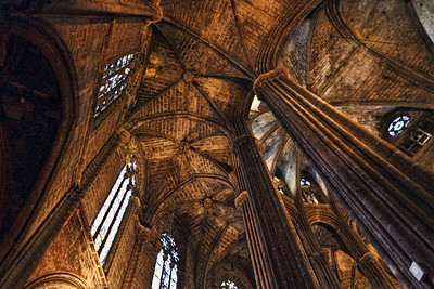 "BARCELONA, SPAIN-""CUITAT VELLA"" OLD CITY TOUR 7/21/14..BASILLICA SANTA MARIA DEL MAR"
