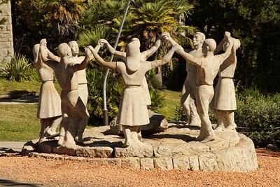 BARCELONA, SPAIN - CITY TOUR  7/21/14  Sculpture at the Parc Guell
