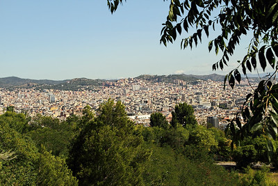BARCELONA, SPAIN - CITY TOUR  7/21/14  View of Barcelona City from Parc Guell