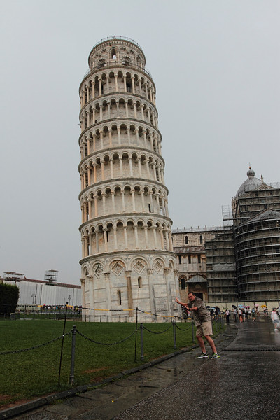 A LITTLE HUMOR WITH BEN...FLORENCE, LASPEZIA...LEANING TOWER OF PISA, FIELD OF MIRACLES...RAINY AND MISTY FOR MOST OF THE DAY 7/24/14